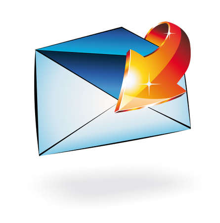 received: 3D colorful Email received conceptual Illusrtation