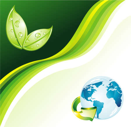 Environmental Earth Green Background for Flyers Vector