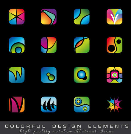 Abstract Colorful collection of Design Elements  Vector