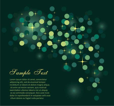 Elegant Colorful Glitter Abstrat Lights for Flyers Background  Illustration