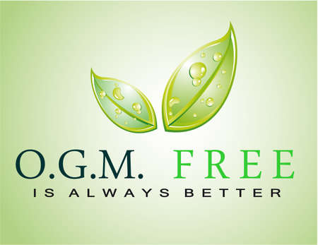 Green Sloga: OGM FREE is always better Stock Vector - 7719460