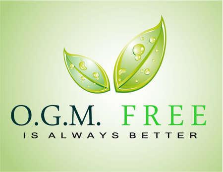 Green Sloga: OGM FREE is always better Stock Vector - 7719460