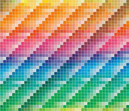 sampler: Paleta de colores de PANTONE CMYK para fondo abstracto