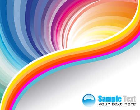 arcobaleno astratto: Astratto business Depliant per Flyers