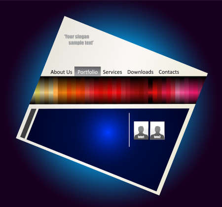 Abstract Futuristic Colorful Webstite Template  Vector