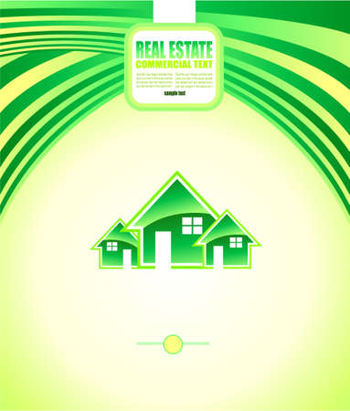 real estate: Abstract Colorful Real Estate Background for Brochures or Depliants