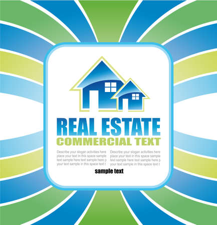 real estate: Abstract Real Estate Background for Brochure of flyers Illustration