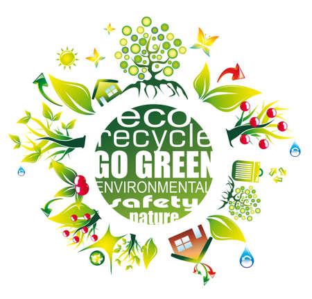 icono contaminacion: Abstractos de medio ambiente y el fondo de ahorro para Green Flyers