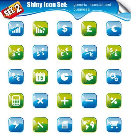 percentual: SET 2 - Shiny Icons: Generic IFinancial and Business Illustration