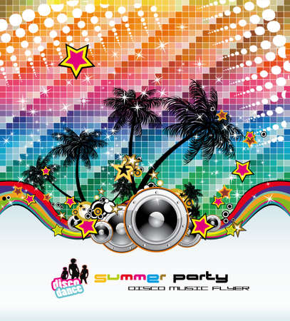 Abstract Tropical Dance Disco Flyer for Latin music event Stock Vector - 7719657