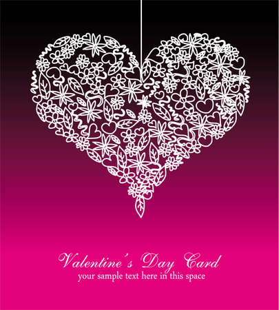 Abstract Colorful Valentines Day Card Background Vector