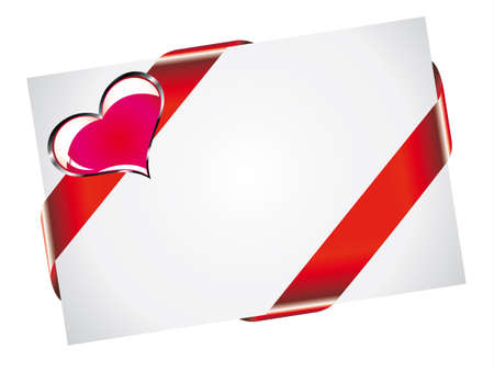 San Valentine PostCard With White Space for text Vector