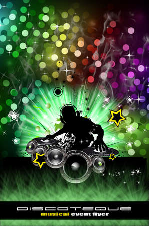discoteque: Abstract Urban Discoteque Event Background for Flyers Stock Photo