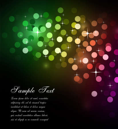 Elegant Colorful Glitter Abstrat Lights for Flyers Background  Stock Photo - 7825324