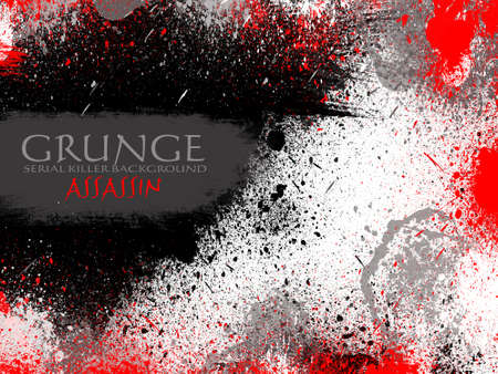 Abstract Assassin Red and Black Drops Grunge Background Stock Photo - 7825391