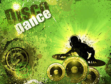 dj boy: Techno Grunge style DJ Disco Flyer Background