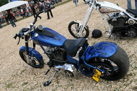 FAAKER SEE, AUSTRIA - SEPTEMBER 11: Custom motorcycles are shown at European Bike Week on September 11, 2010 in Faaker See, Austria. The event is billed as the largest European motorcycle event.