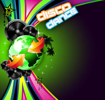 International Music Event Background for Disco Flyers Vector