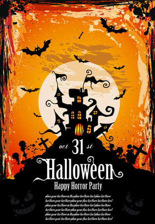 Suggestive Hallowen Party Flyer for Entertainment Night Event Vector