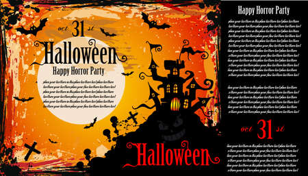 Suggestive Hallowen Party Flyer for Entertainment Night Event Stock Vector - 8002074