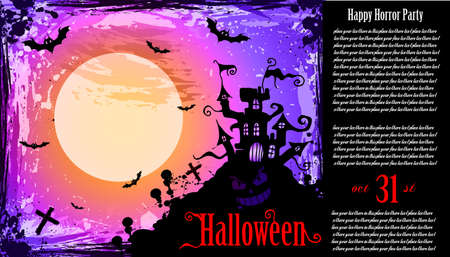 suggestive: Suggestive Hallowen Party Flyer for Entertainment Night Event Illustration
