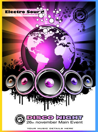 Abstract Colorul Music Event Background for Discotheque Flyers photo