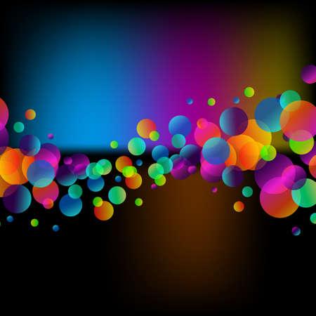 抽象的な虹上品なチラシの背景を泡します。