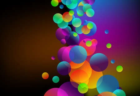 Abstract Rainbow Bubbles Background for Elegant Flyers Vector