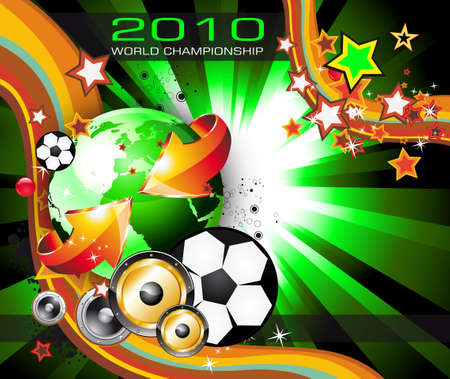Abstrac World Football ChampionShip Disco Party Flyer Background Vector