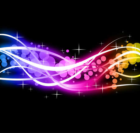 Abstract Colorful Business Background with Rainbow Spectrum colours Illustration