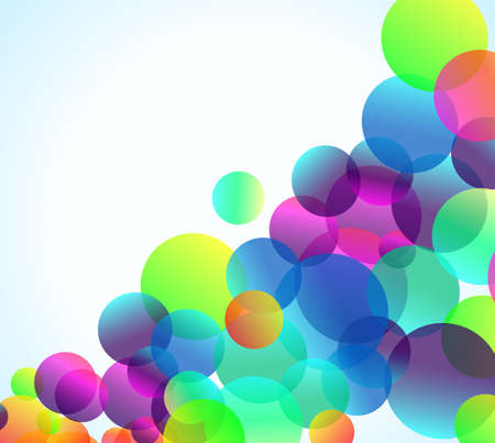 ethereal: Abstract Rainbow Bubbles Background for Elegant Flyers