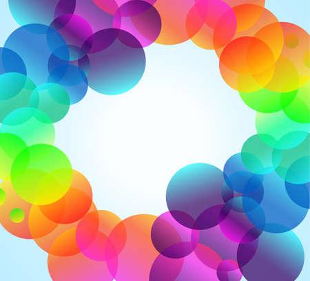 Arcobaleno astratto bubbles background per elegante Flyers