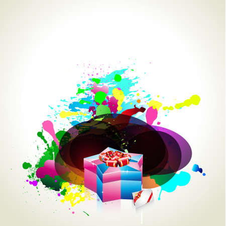 Birthday or Christmas Gift Card with an Explosion of Stars Stock Vector - 8310188