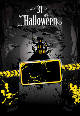 Suggestive Halloween Grunge Style Flyer or Poster Background Vector