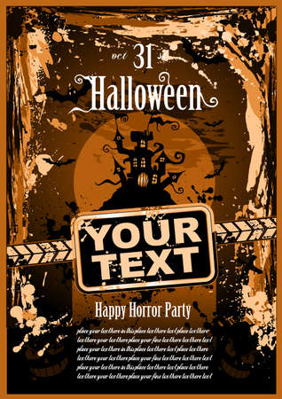Suggestive Halloween Grunge Style Flyer or Poster Background Stock Vector - 8310254