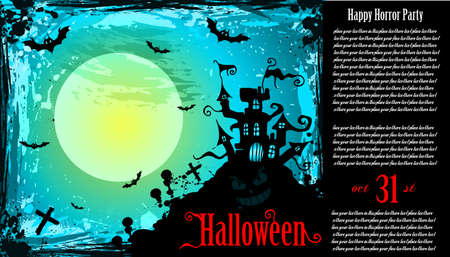 Suggestive Hallowen Party Flyer for Entertainment Night Event Stock Vector - 8310245