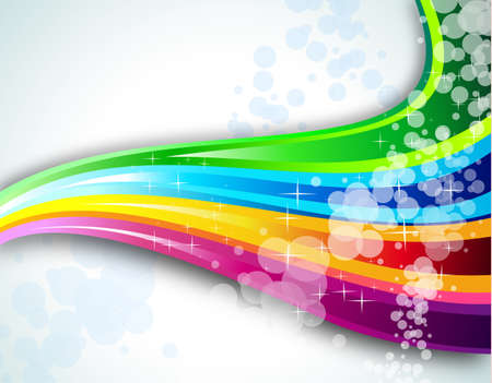 Abstract Rainbow Spectrum Background for Brochure or Flyers Illustration