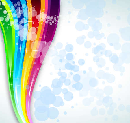 Abstract Rainbow Spectrum Background for Brochure or Flyers Vector