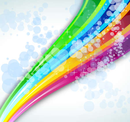 abstract rainbow: Abstract Rainbow Spectrum Background for Brochure or Flyers Illustration