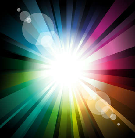 Abstract Lights Explosion with Lens Flare effect Vector