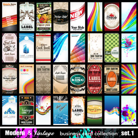business card template: Modern   Vintage Business Card Collection - 32 quality backgrounds - Set 1