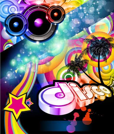 Alternative Disco Flyer For Tropical  Music Event Vector