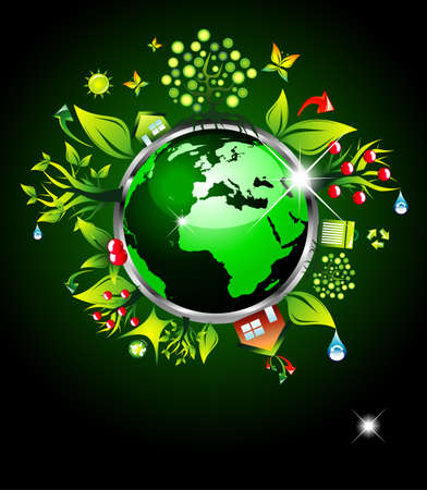 Go Green Ecology Background for Environmental Respect Posters Vector