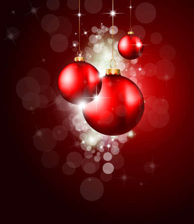 festive season: Colorful Christmas Baubles Background for Elegant Invitation Flyer or Brochure