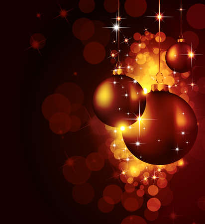 Colorful Christmas Baubles Background for Elegant Invitation Flyer or Brochure Stock Vector - 8548438
