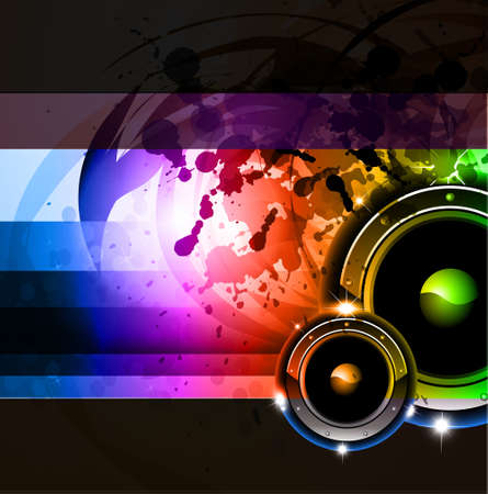 Abstract Grunge Rainbow Disco Background for Posters or Flyers Vector