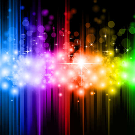 rainbow colours: Magic Rainbow Lights Background for stylish Background  Illustration