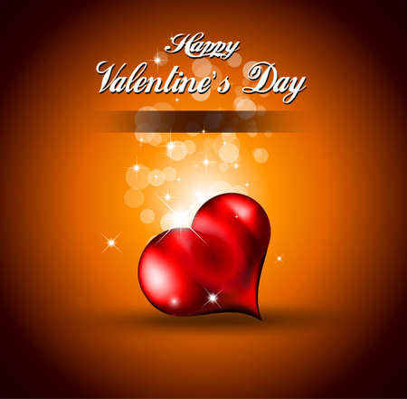 Lonely Heart Background for Valentine's Stylish flyer Stock Vector - 8619687