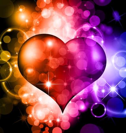 Abstract kleurrijke achtergrond voor Valentijnsdag Flyer