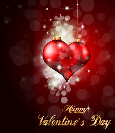 Red and Gold Heart Background for Valentine's Stylish flyer Stock Vector - 8619691